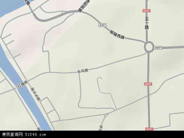 中国湖南省邵阳市双清区东风路地图(卫星地图)