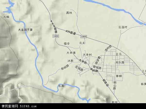 大丰镇地图 - 大丰镇卫星地图图片