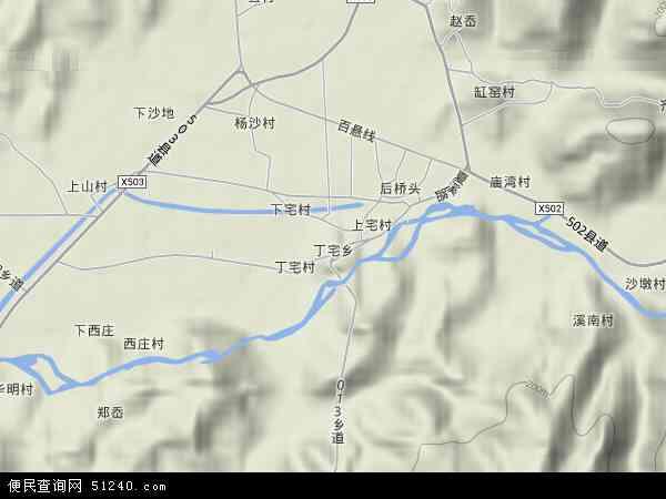 中国浙江省绍兴市上虞市丁宅乡地图(卫星地图)