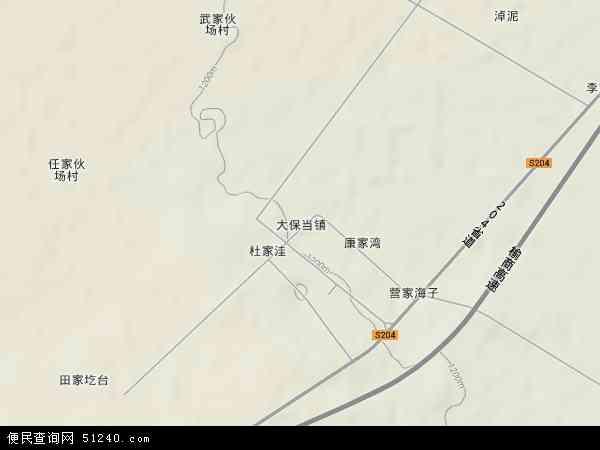 中国陕西省榆林市神木县大保当镇地图(卫星地图)