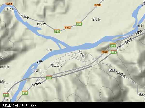 中国浙江省丽水市莲都区大港头镇地图(卫星地图)图片