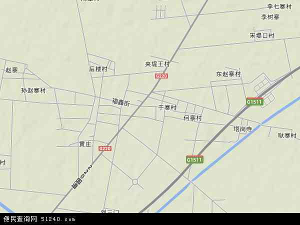 中国山东省菏泽市牡丹区大黄集镇地图(卫星地图)