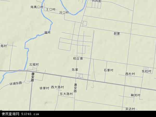 中国山东省东营市广饶县稻庄镇地图(卫星地图)