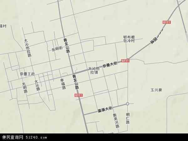 中国内蒙古自治区通辽市奈曼旗大沁他拉镇地图(卫星地图)