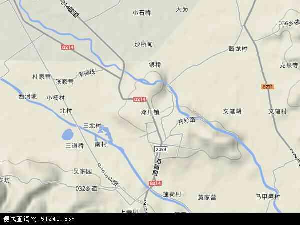 邓川镇地图 - 邓川镇卫星地图 - 邓川镇高清航拍地图