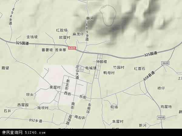 电城镇地图 - 电城镇卫星地图