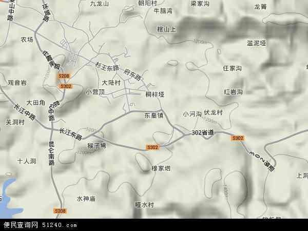 中国贵州省遵义市习水县东皇镇地图(卫星地图)