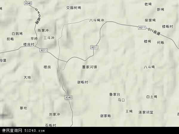 董家河镇地图 - 董家河镇卫星地图