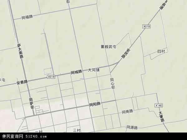 大同镇地图 - 大同镇卫星地图 - 大同镇高清航拍地图