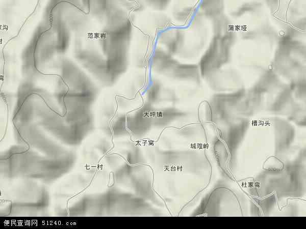大坪镇地图 - 大坪镇卫星地图 - 大坪镇高清航拍地图