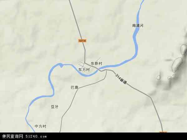 中国海南省省直辖县级行政区划东方市东河镇地图(卫星地图)