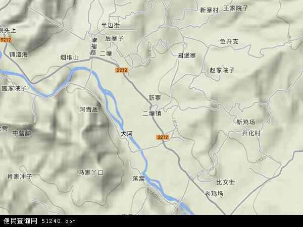 二塘镇2018年卫星地图 中国贵州省毕节市威宁彝族回族苗族自治县二