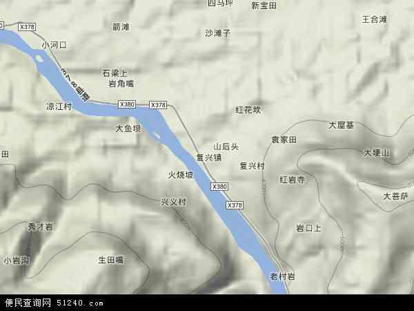 中国贵州省遵义市赤水市复兴镇地图(卫星地图)