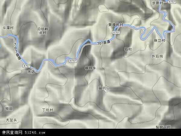 中国浙江省丽水市松阳县枫坪乡地图(卫星地图)