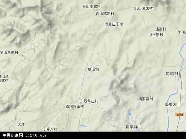 中国山东省烟台市招远市阜山镇地图(卫星地图)