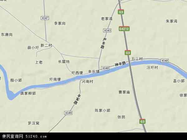 中国安徽省合肥市肥西县丰乐镇地图(卫星地图)