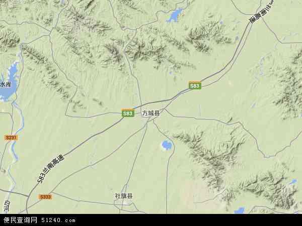 方城县地图 - 方城县卫星地图图片