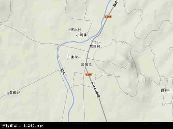 中国山东省泰安市新泰市放城镇地图(卫星地图)