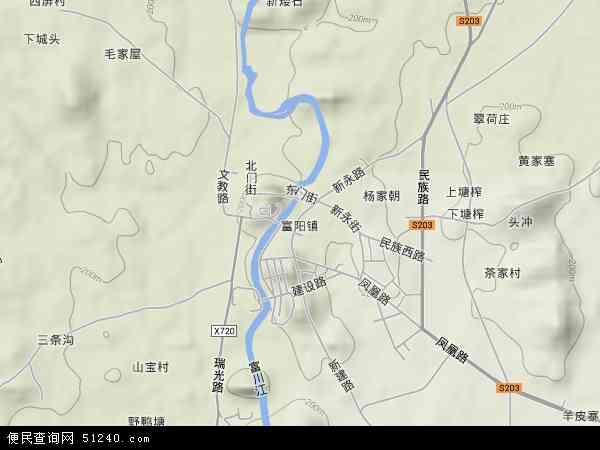 川瑶族自治县富阳镇地图图片