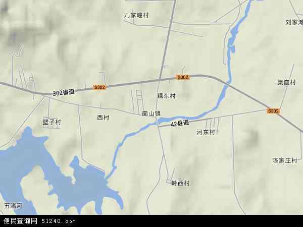 崮山镇2017年卫星地图 中国山东省威海市环翠区崮山镇地图