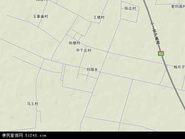 中国山东省临沂市郯城县归昌乡地图(卫星地图)