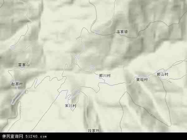 中国甘肃省天水市清水县郭川乡地图(卫星地图)
