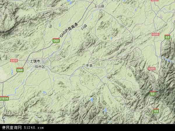 广丰县地图 - 广丰县卫星地图图片