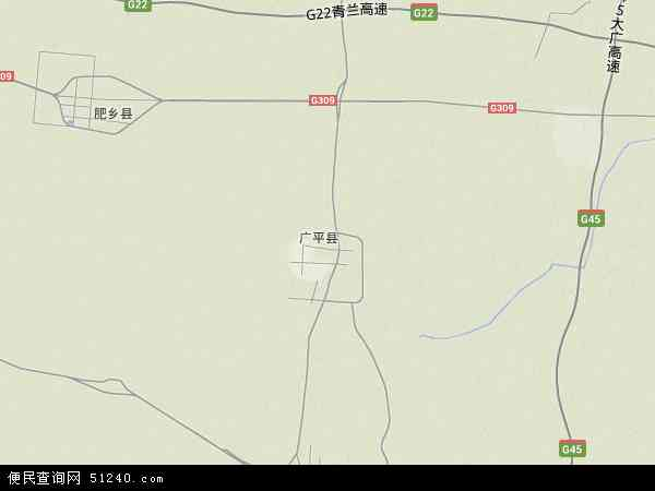 广平县地图 - 广平县卫星地图图片