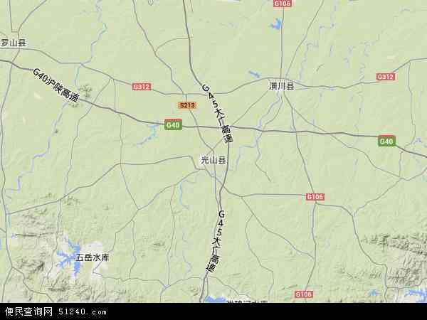 卫星地图 光山县2018年卫星地图 中国河南省信阳市光山县地图