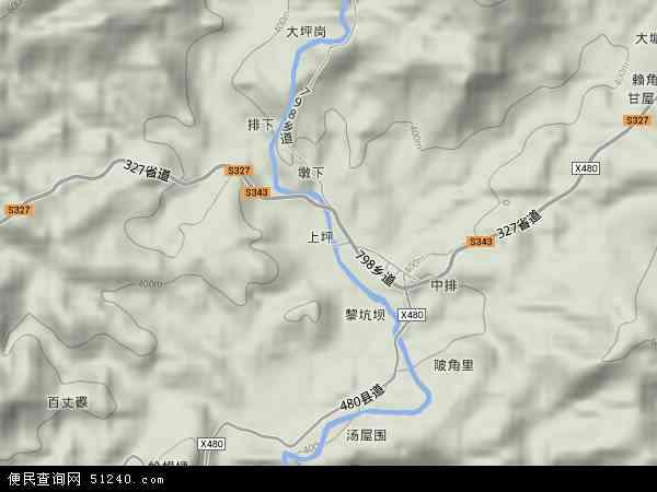 桂竹帽镇2017年卫星地图 中国江西省赣州市寻乌县桂竹帽镇地图图片