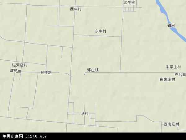 中国河北省石家庄市无极县郭庄镇地图(卫星地图)