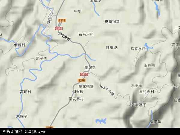 高滩镇地图 - 高滩镇卫星地图 - 高滩镇高清航拍地图