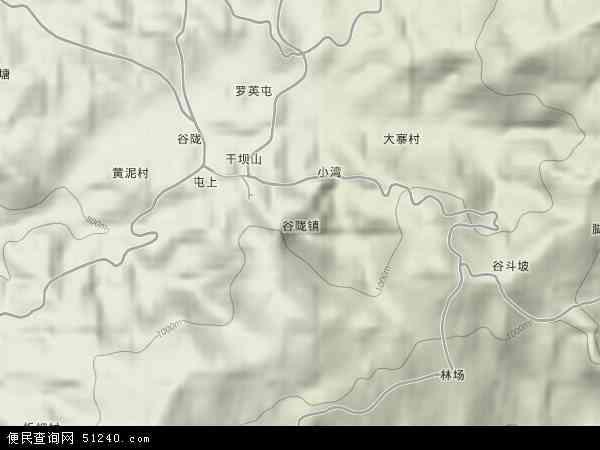 中国贵州省黔东南苗族侗族自治州黄平县谷陇镇地图(卫星地图)
