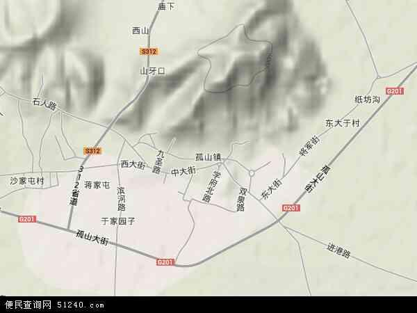中国辽宁省丹东市东港市孤山镇地图(卫星地图)