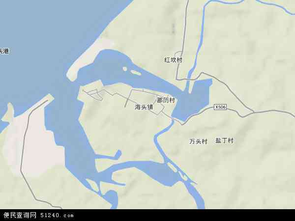中国海南省省直辖县级行政区划儋州市海头镇地图