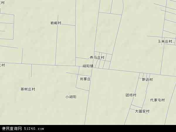 中国山东省临沂市费县胡阳镇地图(卫星地图)