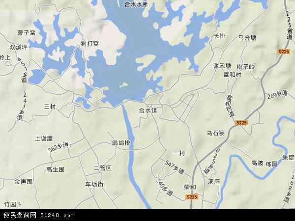 合水镇地图 - 合水镇卫星地图图片