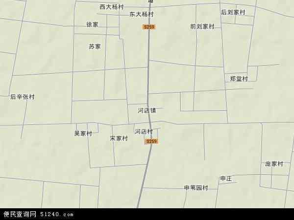 中国山东省聊城市莘县河店镇地图(卫星地图)