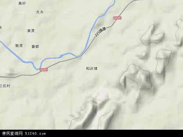 中国海南省省直辖县级行政区划儋州市和庆镇地图(卫星地图)