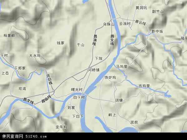 浙江省 杭州市 临安市 河桥镇  本站收录有:2018河桥镇卫星地图高清版