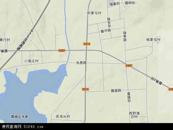 中国山东省青岛市莱西市河头店镇地图(卫星地图)