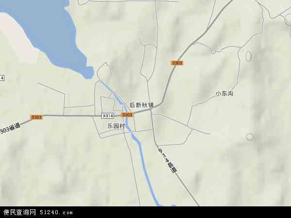 中国辽宁省阜新市彰武县后新秋镇地图(卫星地图)
