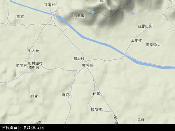 中国浙江省金华市兰溪市黄店镇地图(卫星地图)