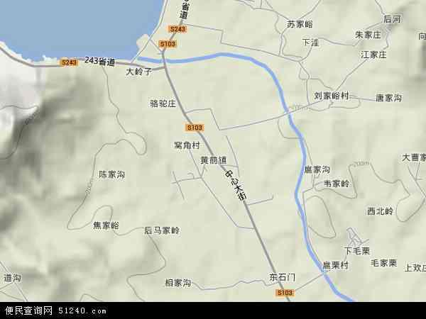 中国山东省泰安市岱岳区黄前镇地图(卫星地图)