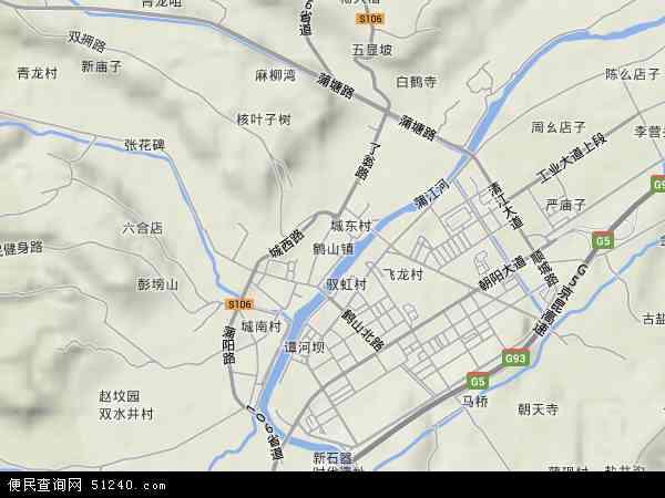 2016鹤山镇地图高清版