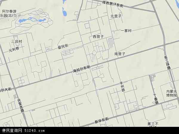中国内蒙古自治区呼和浩特市新城区海拉尔东路地图