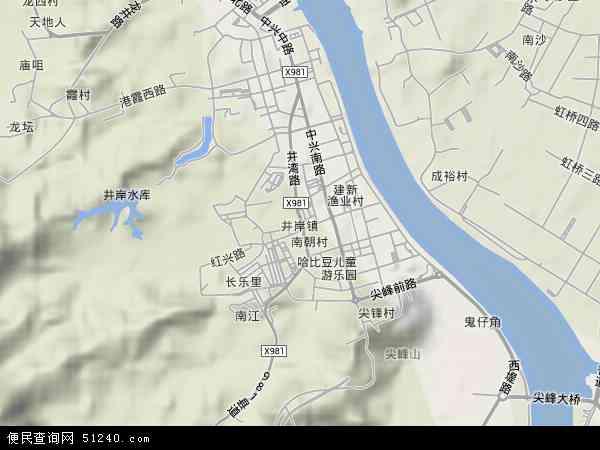 井岸镇地图 井岸镇卫星地图 井岸镇高清航拍地图 井岸镇高清卫星地图