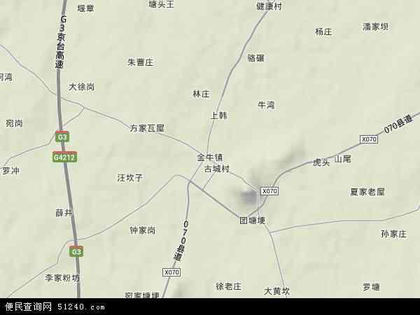 金牛镇地图 - 金牛镇卫星地图