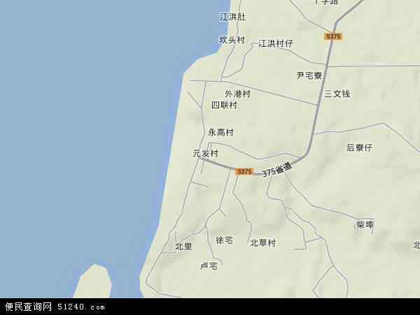 中国广东省湛江市遂溪县江洪镇地图(卫星地图)