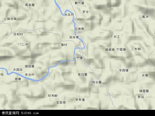 江宁镇地图 - 江宁镇卫星地图